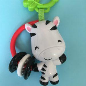 ベビージムについている歯固めになる馬のおもちゃ