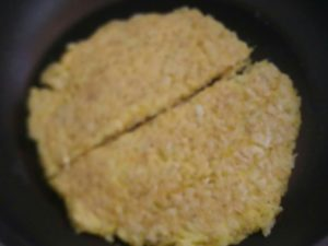 卵かけご飯とオートミールおやき